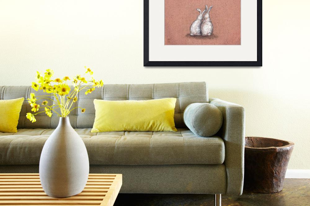 """""""Everybunny Loves Somebunny Sometimes Poster Print&quot  (2010) by euphorianchic"""