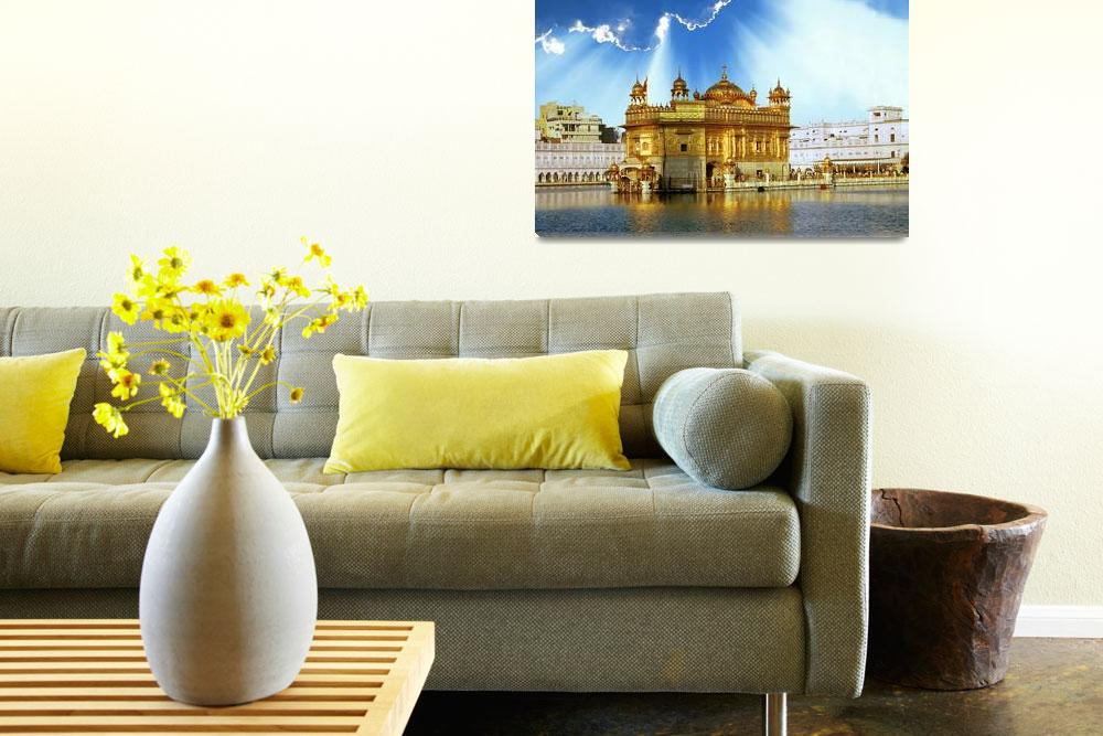 """""""Golden Temple Shining Clouds&quot  by SikhPhotos"""