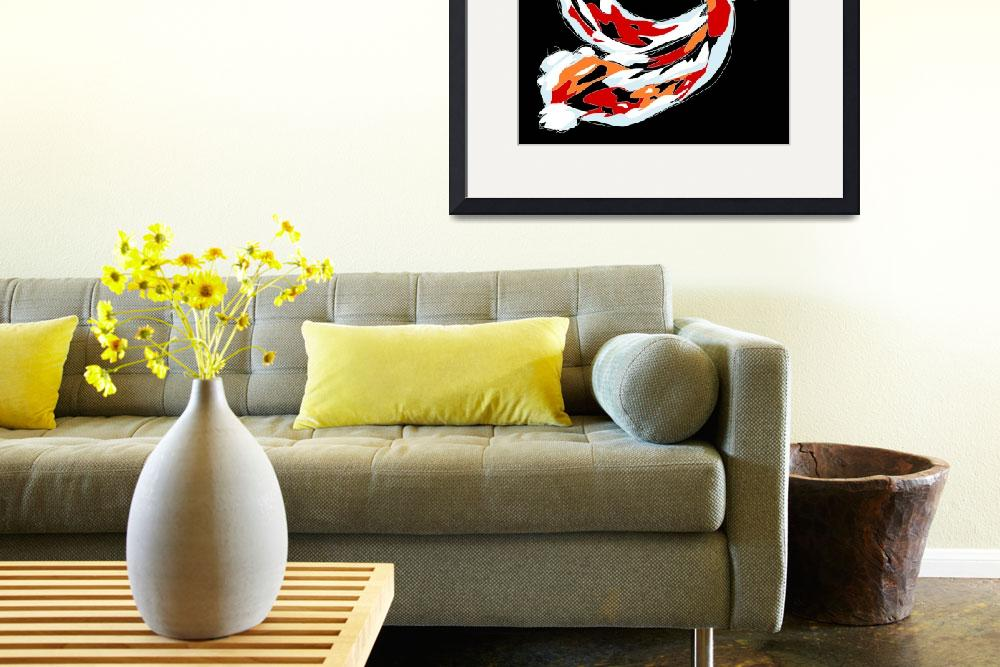 """""""2 Colorful Koi&quot  (2008) by kristensteinfineart"""