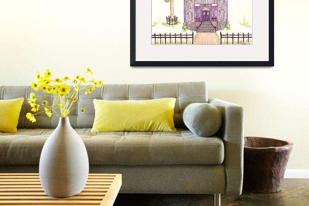 """""""Victorian House in Lavender&quot  (2014) by JayneSomogy"""