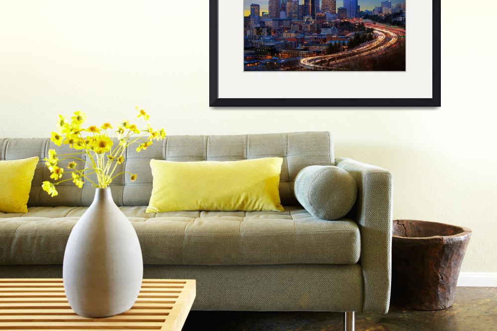 """""""Seattle Downtown&quot  (2011) by Inge-Johnsson"""