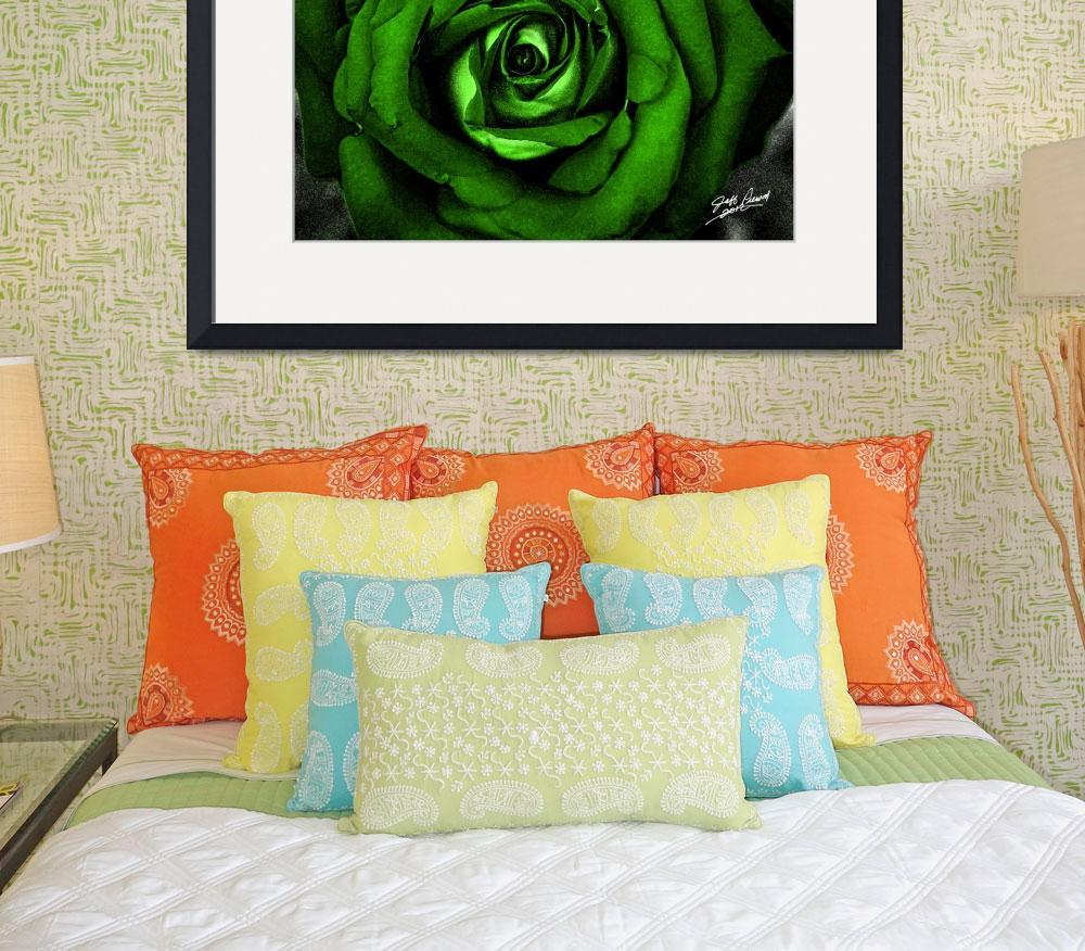 """Watercolor Rose Green""  (2012) by SouthIdahoPhoto"