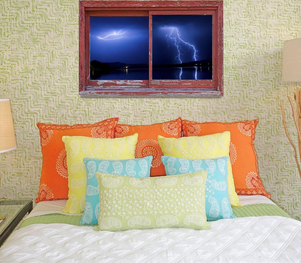 """""""August Storm Red Barn Picture Window Frame  Photo&quot  (2012) by lightningman"""