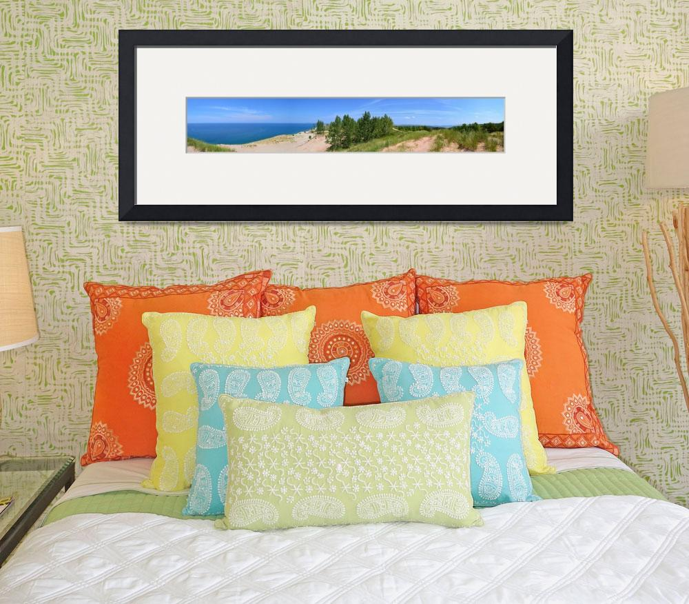 """Sleeping Bear Dunes Panorama""  (2013) by Michelle1991"