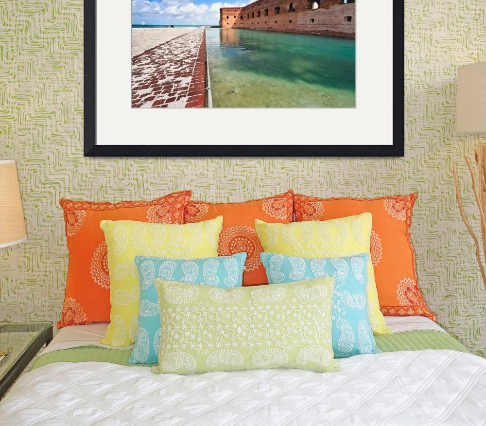 """""""Moat and Walls of Fort Jefferson, Dry Tortugas Nat&quot  (2006) by George_Oze"""