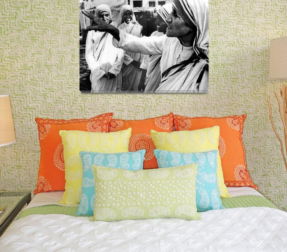 """""""Mother Teresa points something out""""  by RetroImagesArchive"""