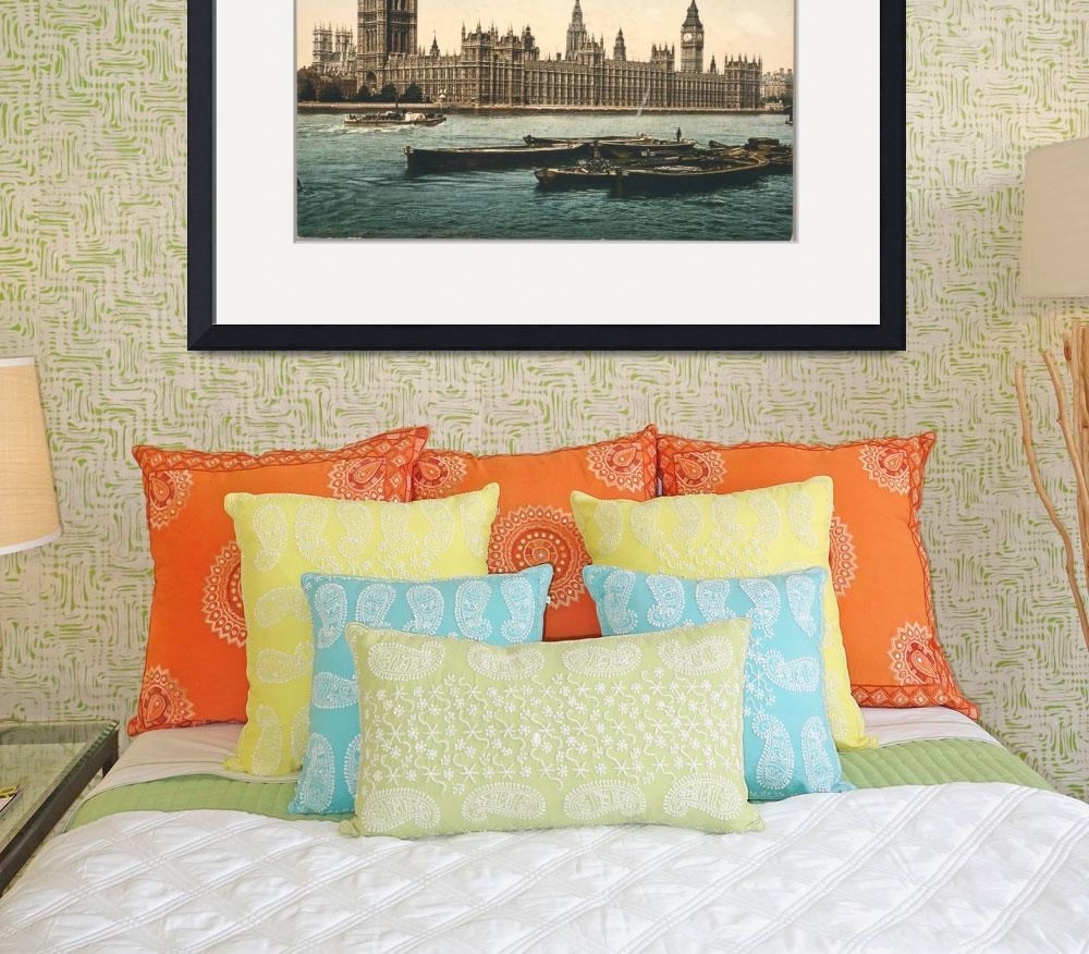 """""""HOUSES OF PARLIAMENT 1895&quot  by homegear"""