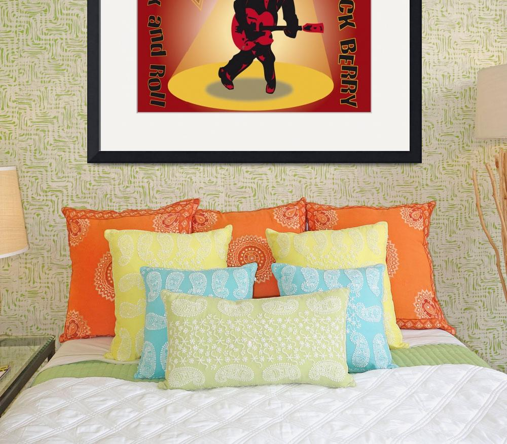 """""""chuck berry&quot  (2010) by slowman888"""