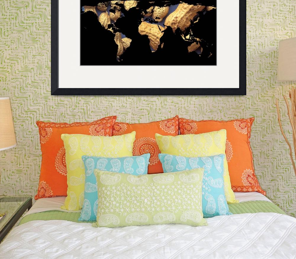 """""""World Map Silhouette - Peanuts""""  by Alleycatshirts"""