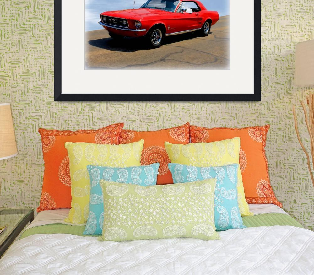 """1967 Ford Mustang Hardtop&quot  (2014) by bettynorthcutt"