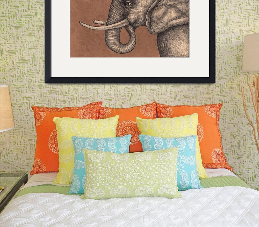"""""""The Elephant In The Room&quot  (2009) by LynnetteShelley"""