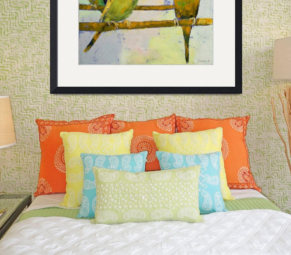 """""""Three Parakeets&quot  by creese"""