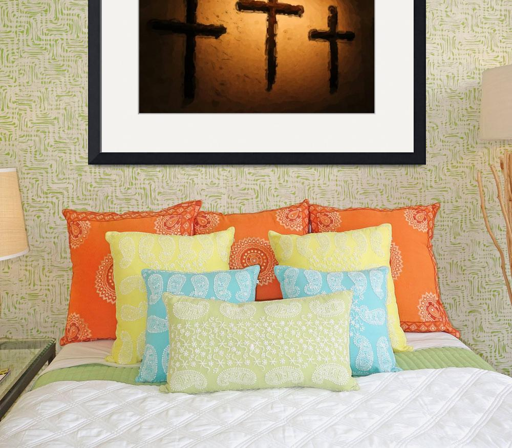"""""""Three Crosses&quot  (2012) by lisaarundale"""