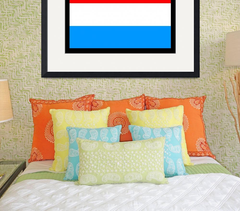 """""""Luxembourg Flag&quot  by KWGart"""