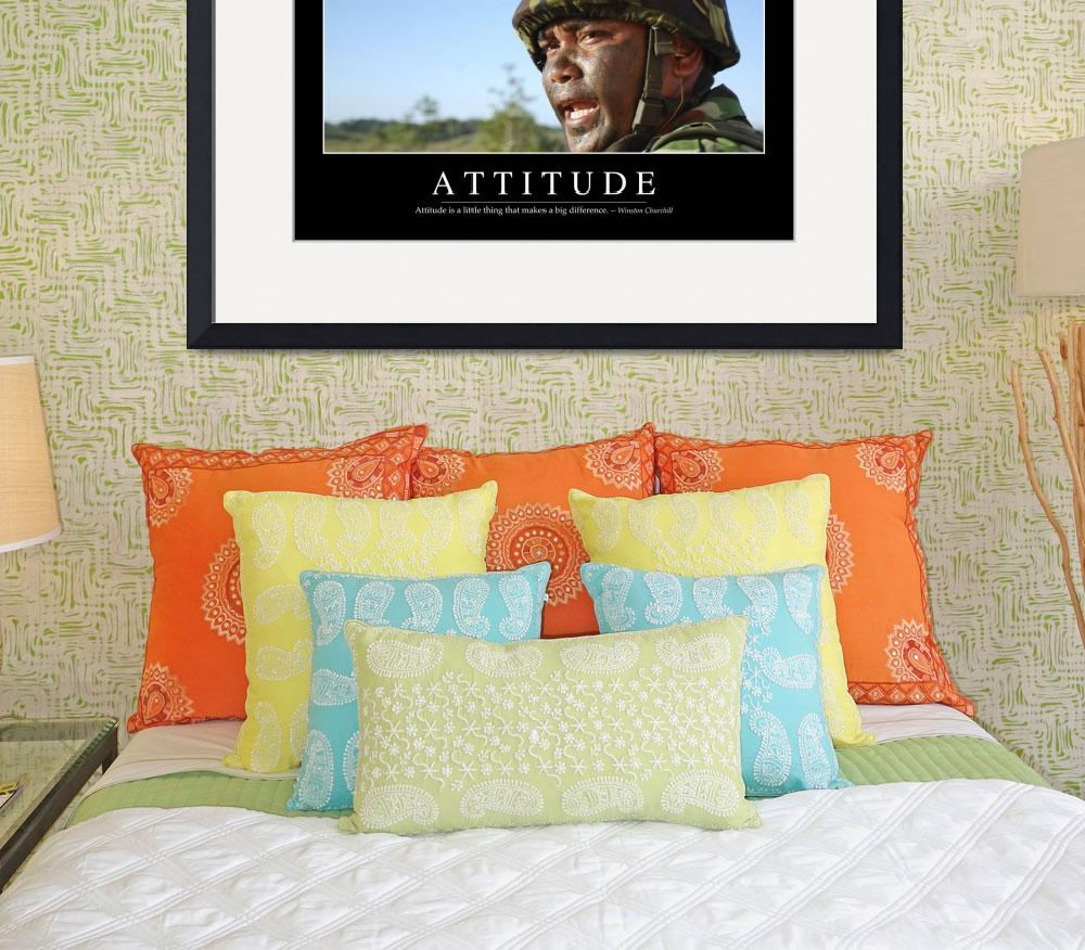 """""""Attitude: Inspirational Quote and Motivational Pos&quot  by stocktrekimages"""