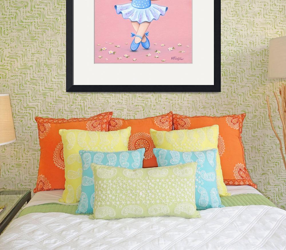 """Dancing Ballerina Bear, girls room decor""  (2018) by nopiepan"