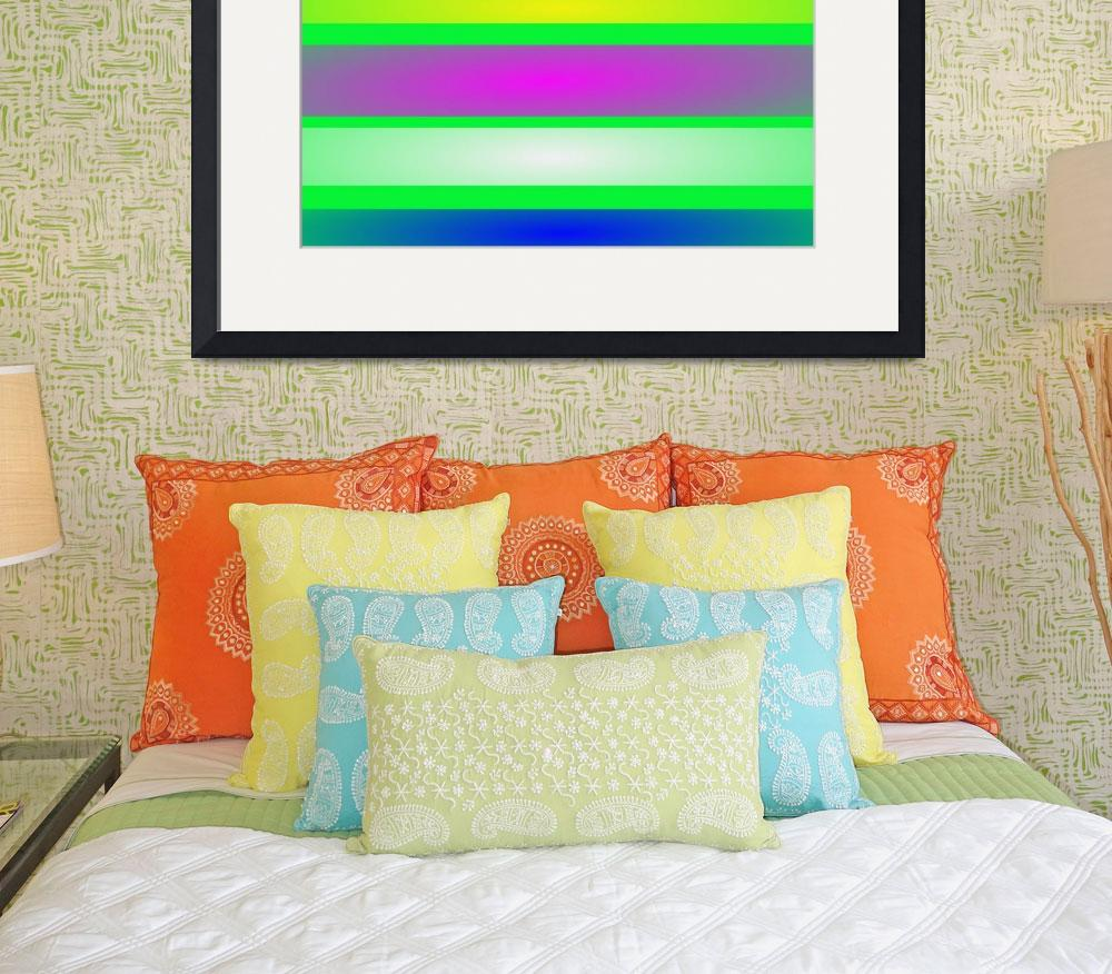 """""""Stripes Art Green&quot  by masabo"""
