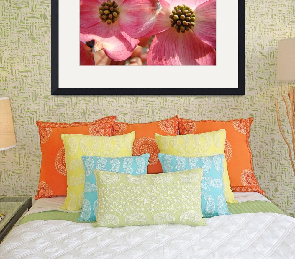 """""""Trees Pink Dogwood Flowers art prints Baslee&quot  (2010) by BasleeTroutman"""