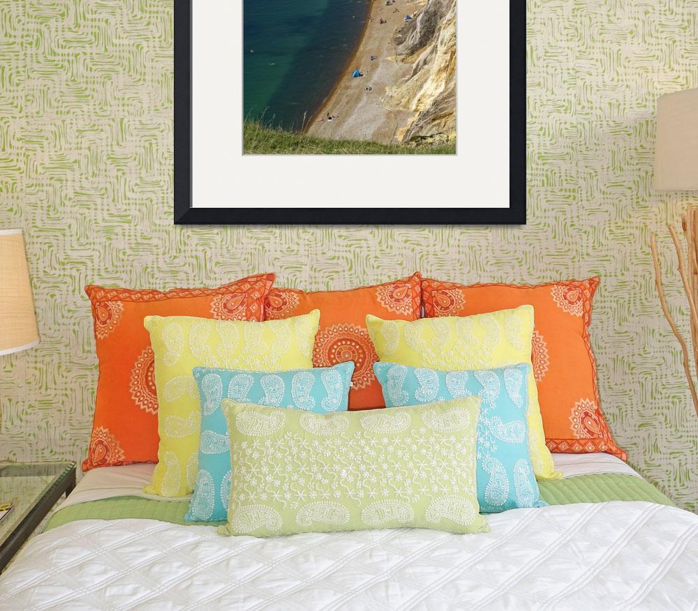 """""""The Beach and Sand Cliffs of Alum Bay (31990-RDA)&quot  (2012) by rodjohnson"""