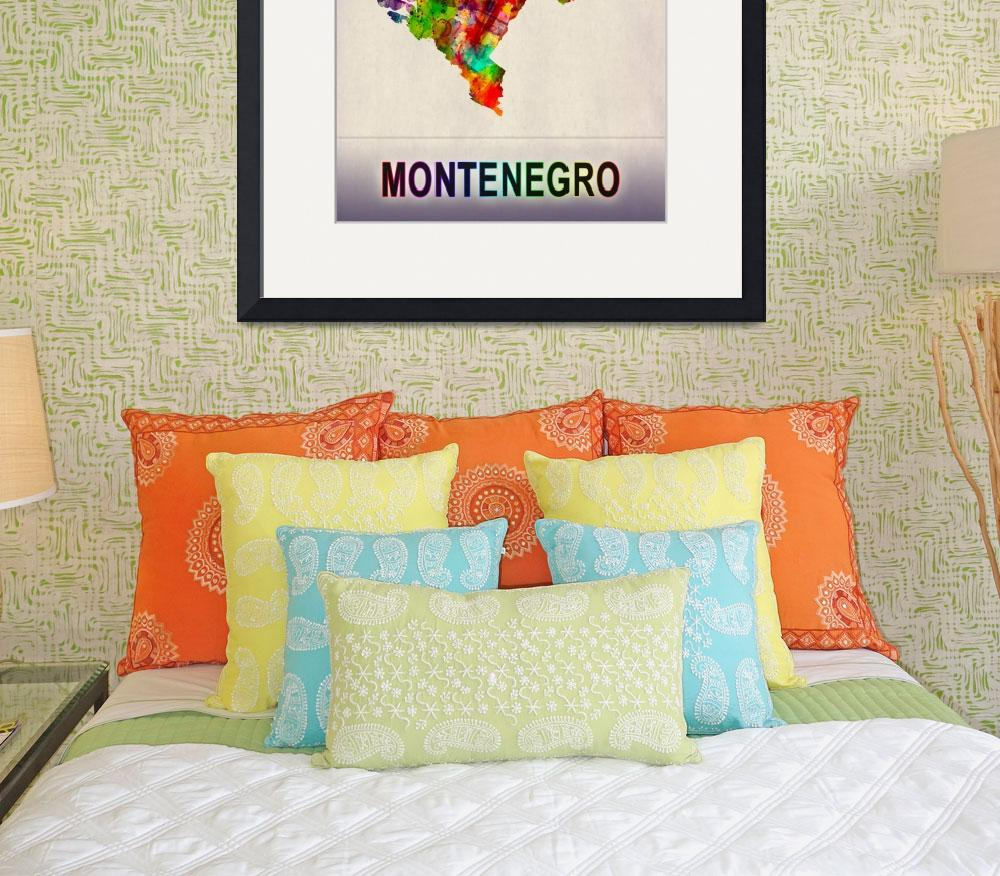 """""""Montenegro Map""""  by Towseef"""