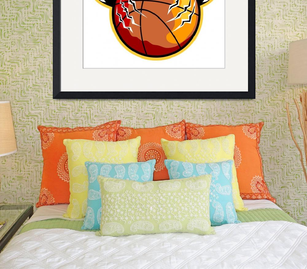 """""""Tiger Basketball Ball Claws&quot  (2013) by patrimonio"""