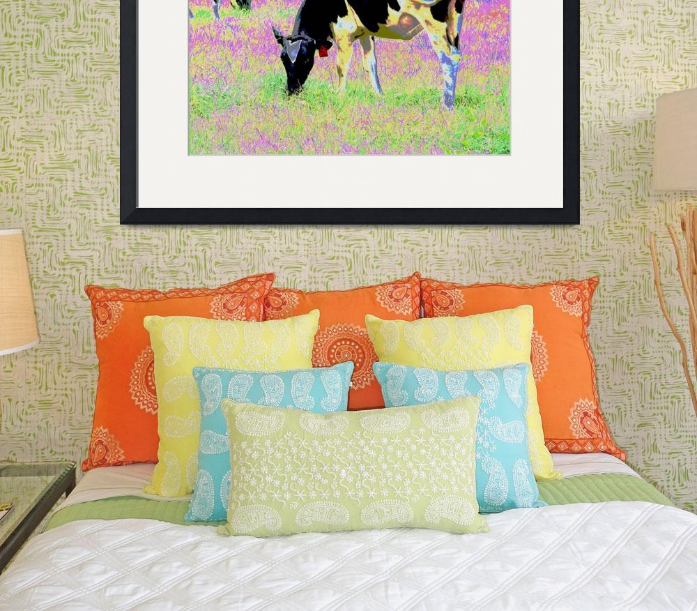 """""""Psychedelic Cows&quot  (2009) by evansonart"""