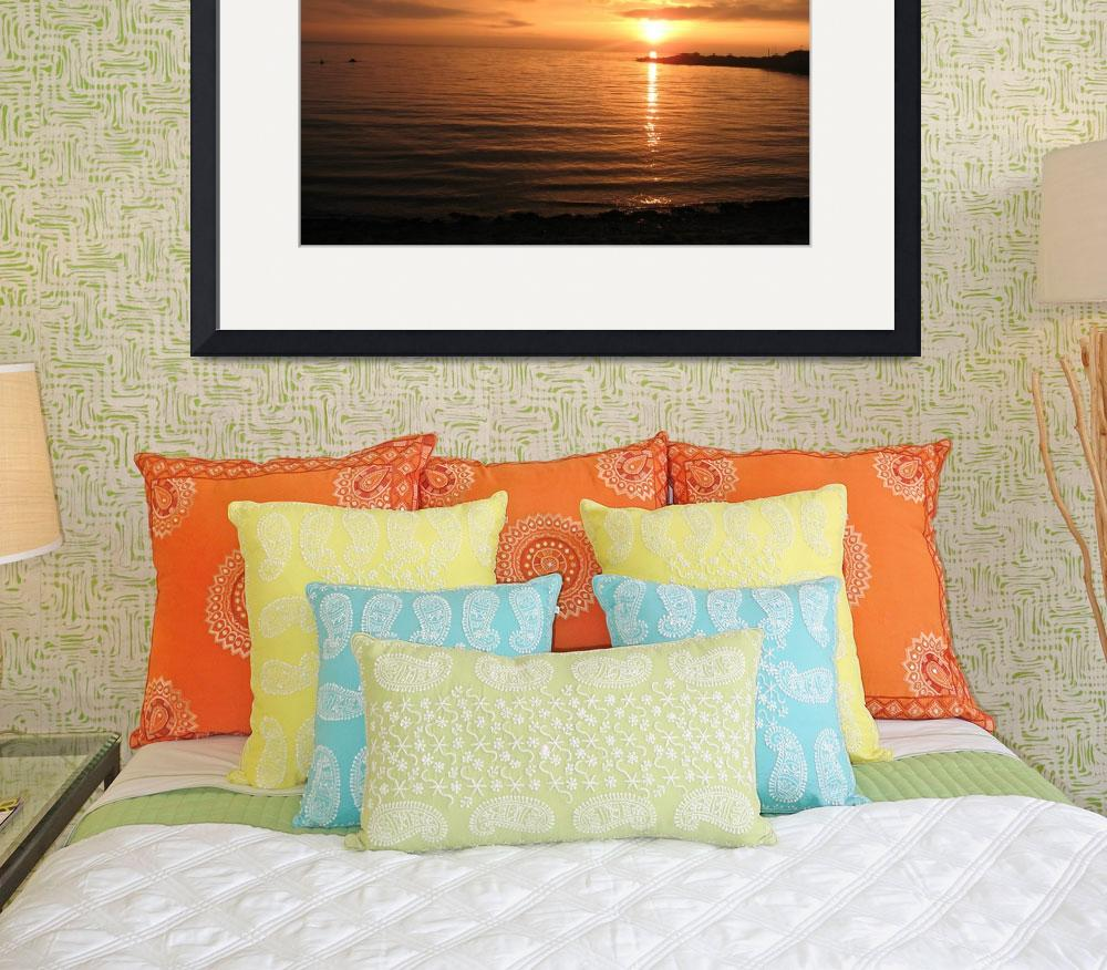 """""""Sunset over sea""""  (2009) by Thian"""