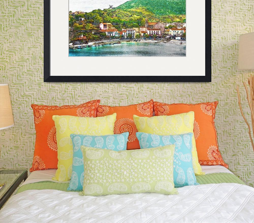 """Collioure, France. Beach View&quot  (2010) by Snowman"