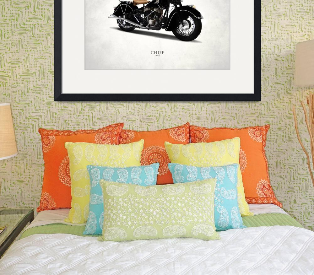 """""""The 1946 Indian Chief Motorcycle&quot  by mark-rogan"""