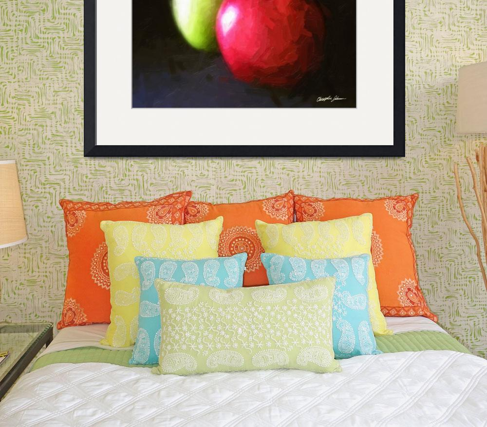 """""""Red and Green Apples 3 Painterly""""  (2010) by ChristopherInMexico"""