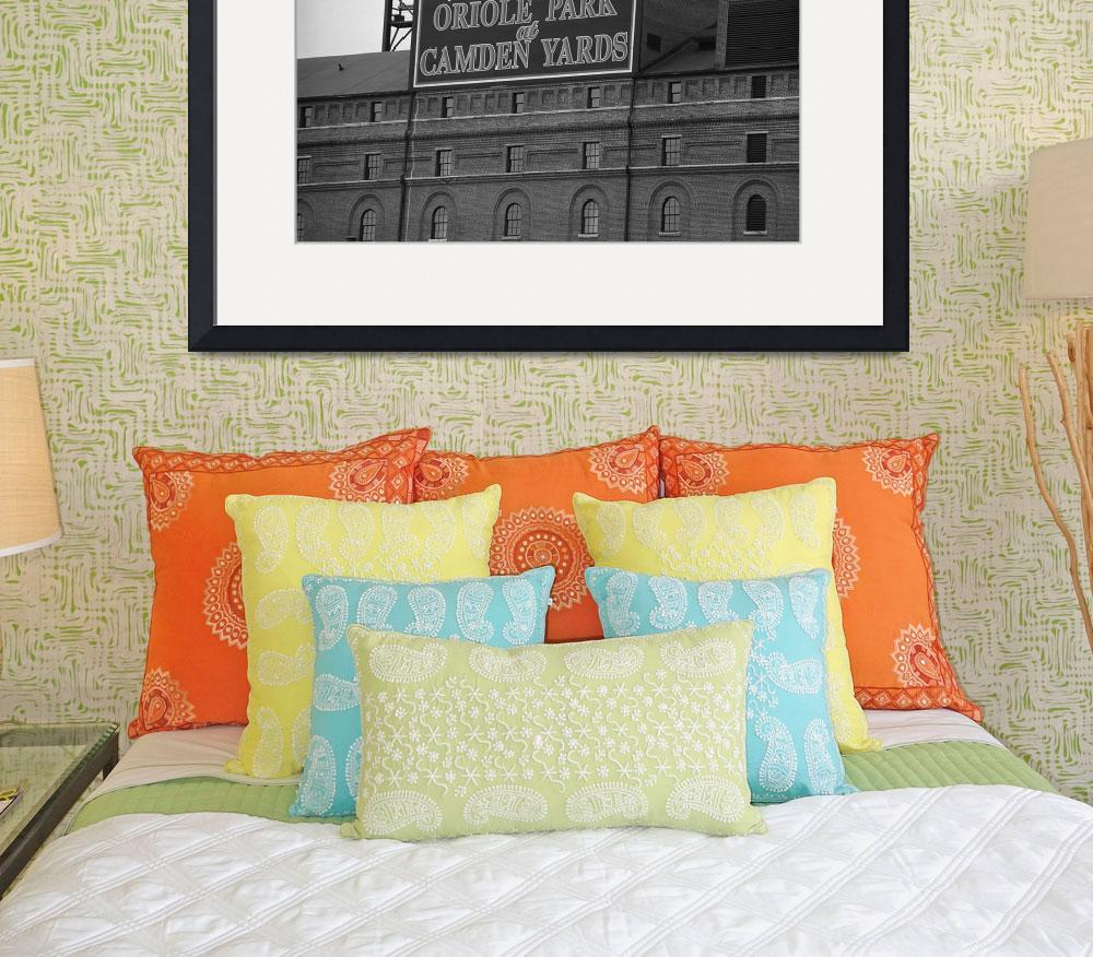 """""""Baltimore Orioles Park at Camden Yards&quot  (2003) by Ffooter"""