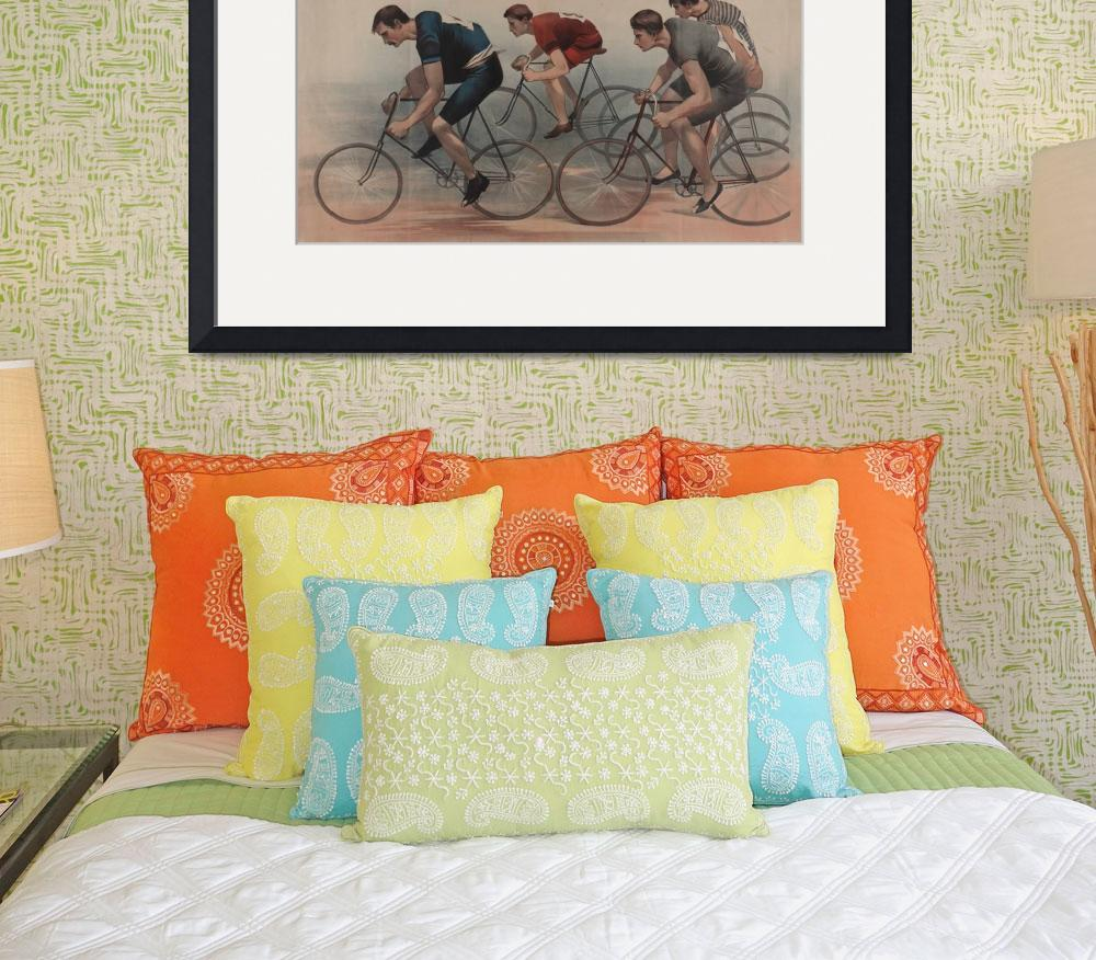 """""""Vintage Cyclist Race Illustration (1896)""""  by Alleycatshirts"""
