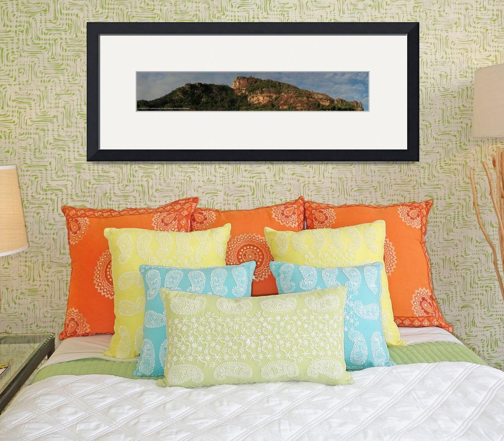 """""""Panorama Seychelles mountains&quot  (2011) by easyfigure"""