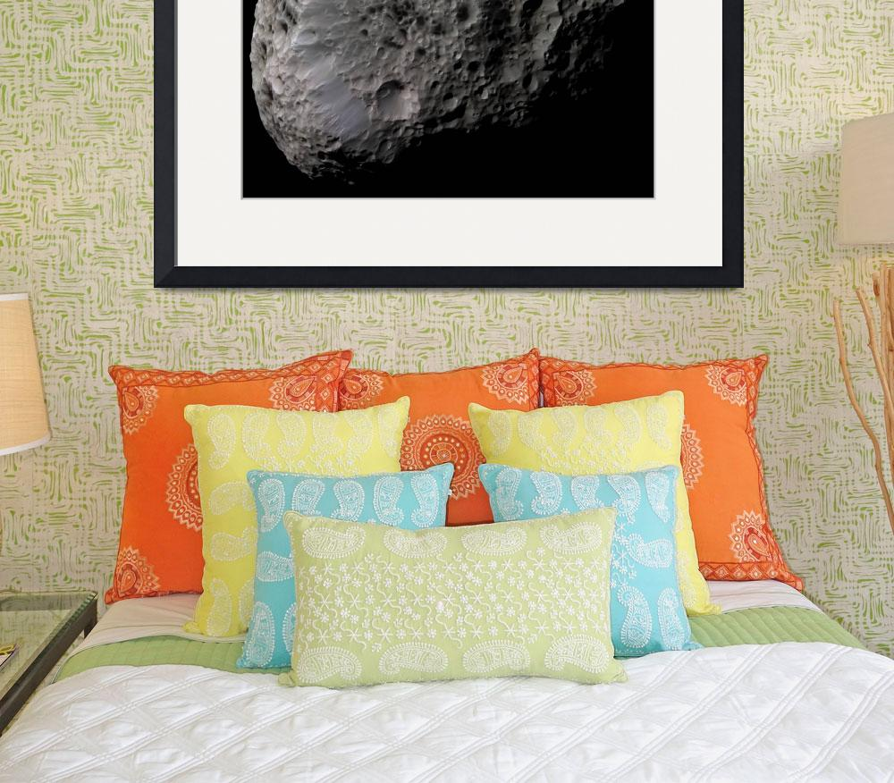 """Falsecolor view of Saturns moon Hyperion&quot  by stocktrekimages"