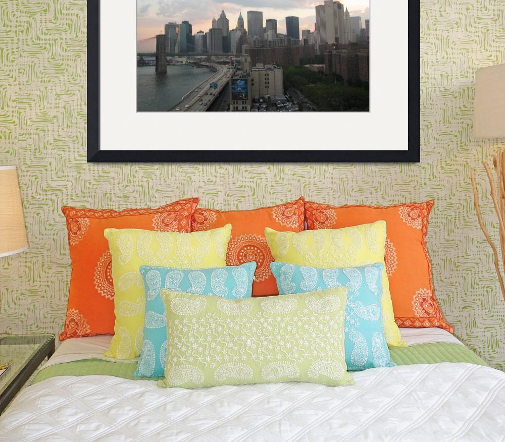 """""""NewYork Downtown and FDR drive&quot  (2008) by gana"""