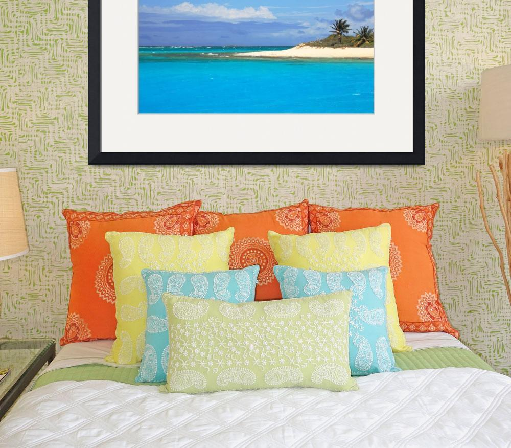 """""""Sandy Point and Turquoise Water, Anguilla&quot  (2013) by RoupenBaker"""