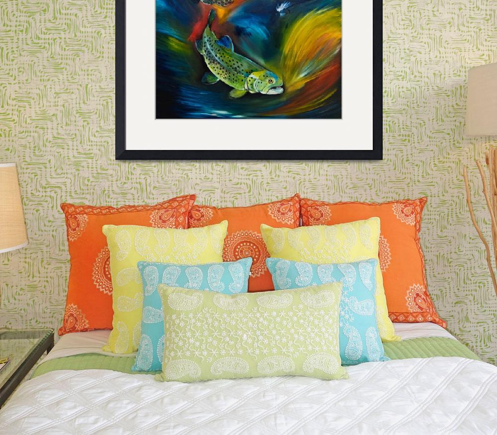 """Illuminated Trout""  by allisonmcgreefineart"