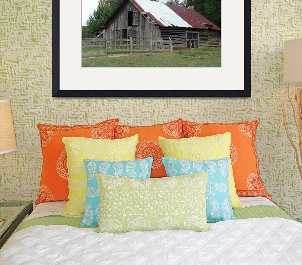 """""""Country Charm Fincher Barn""""  (2009) by photographybydonna"""