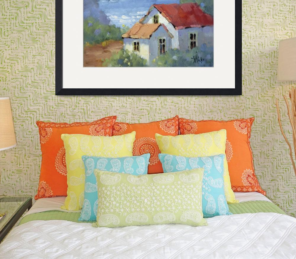 """""""Pacific View Cottage by Joyce Hicks&quot  (2008) by jhicksfineart"""