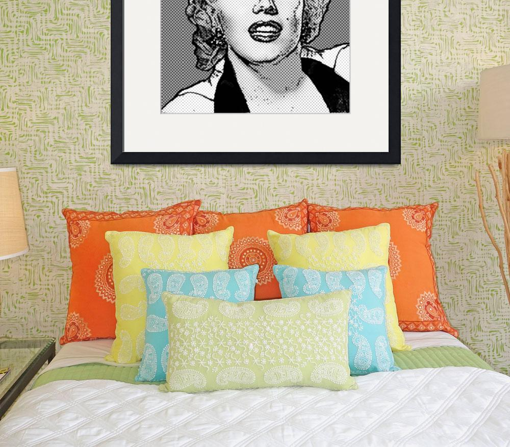 """""""Marilyn Monroe - B&W - Dots&quot  (2011) by Automotography"""