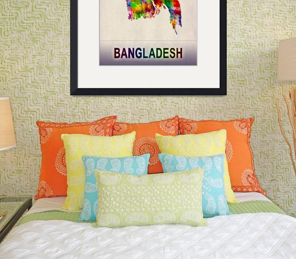 """Bangladesh Map""  by Towseef"
