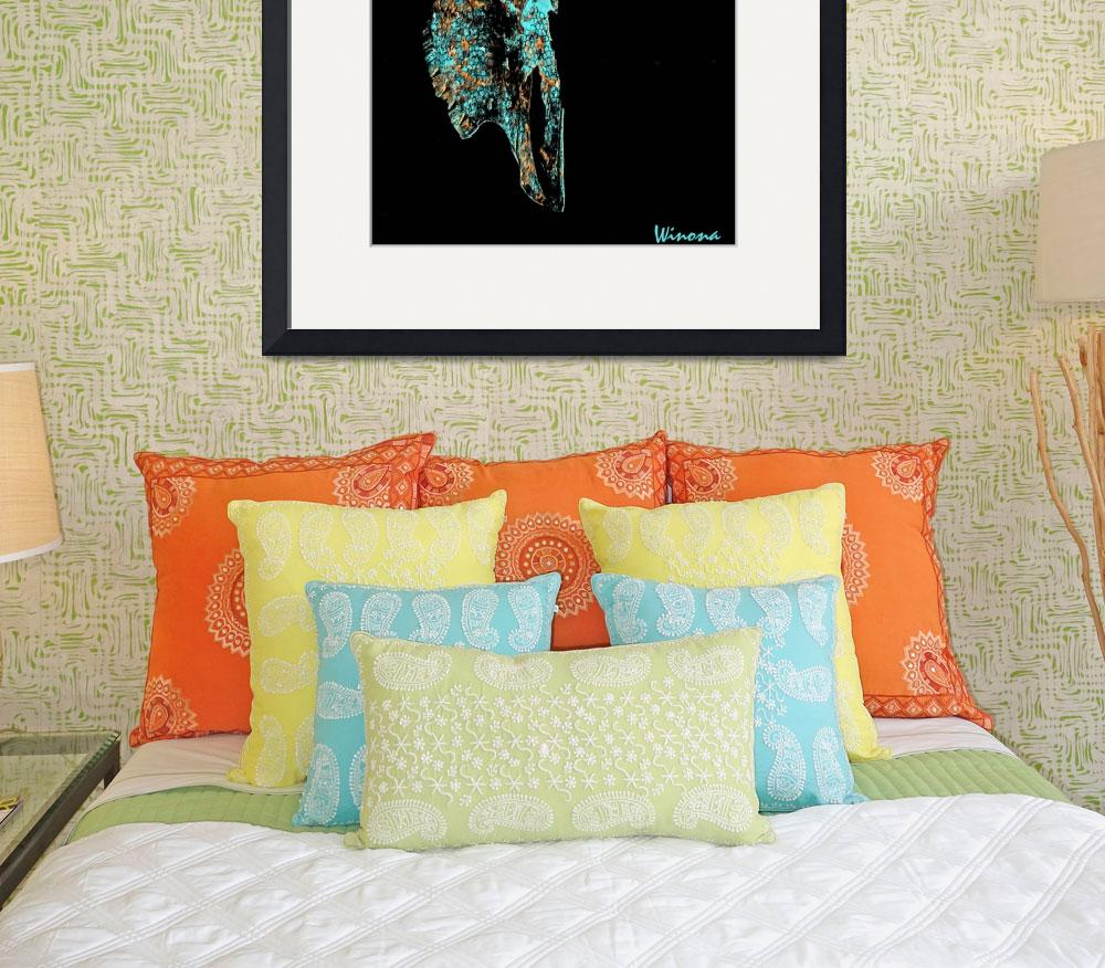 """""""Turquoise Skull Mosaic""""  (2011) by Attentiongetters"""