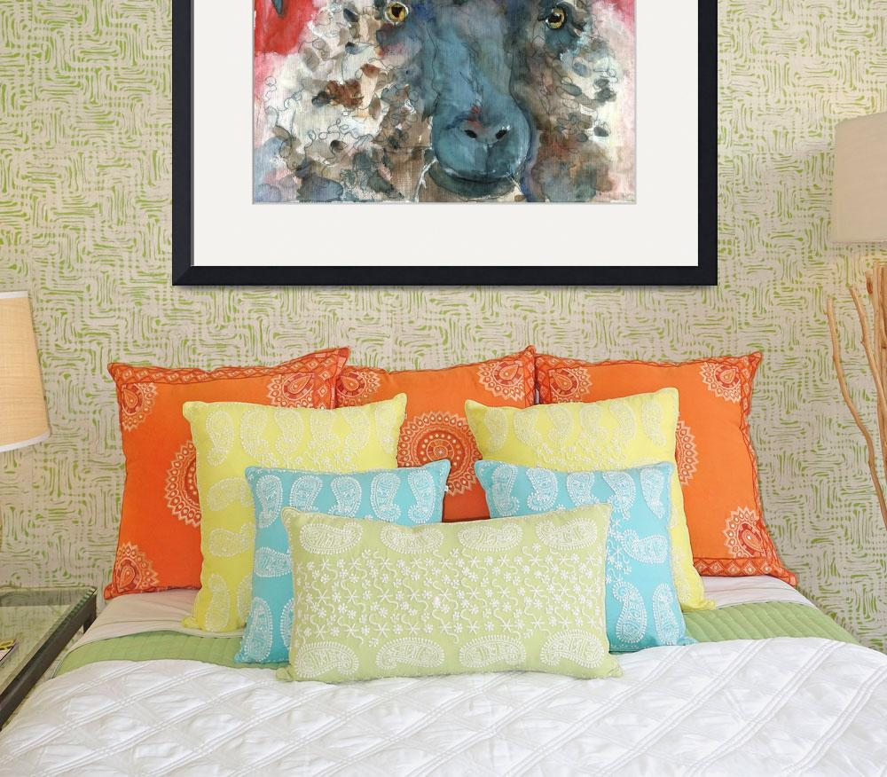 """""""Wooly Booly, Sheep Print&quot  by schulmanart"""