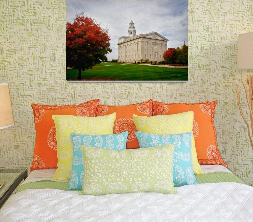 """""""Nauvoo Temple Painting  by Kelly Jones&quot  (2017) by dbwalton"""