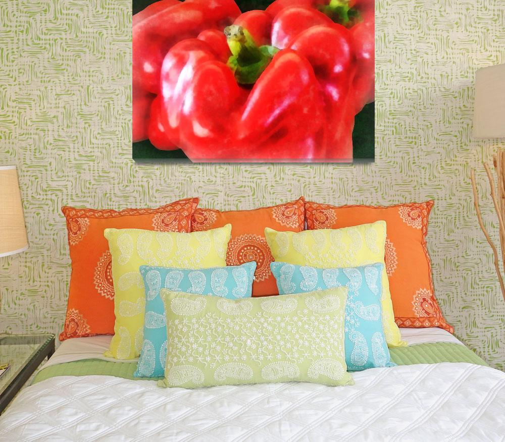 """""""Three Red Peppers&quot  (2012) by susansartgallery"""