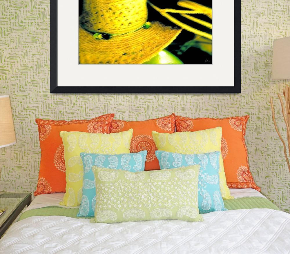 """""""Chapeaux in Yellow and Green""""  (2012) by russgiffen"""