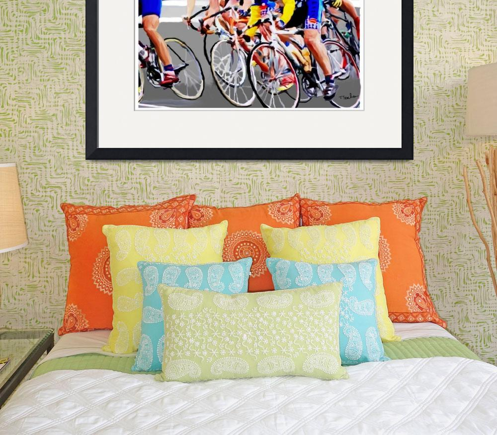 """""""cyclist around&quot  by ArtbySachse"""