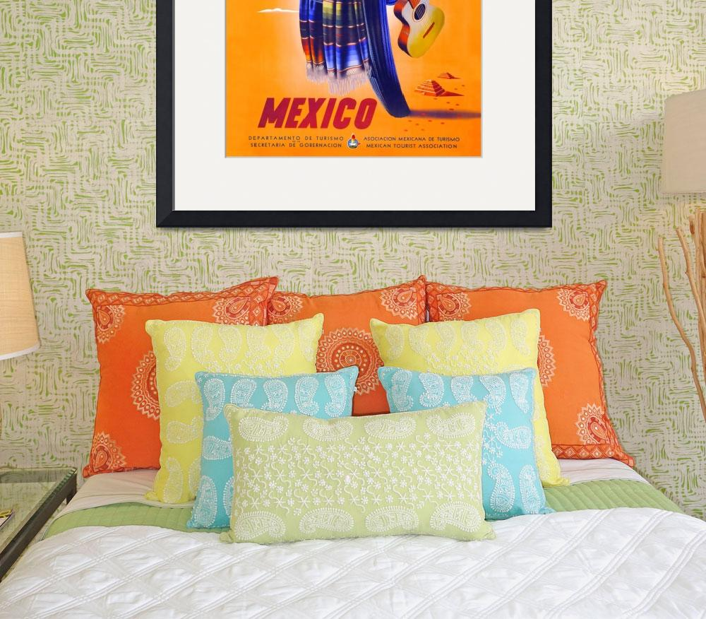 """""""Mexico Travel Poster 1""""  (1945) by jvorzimmer"""