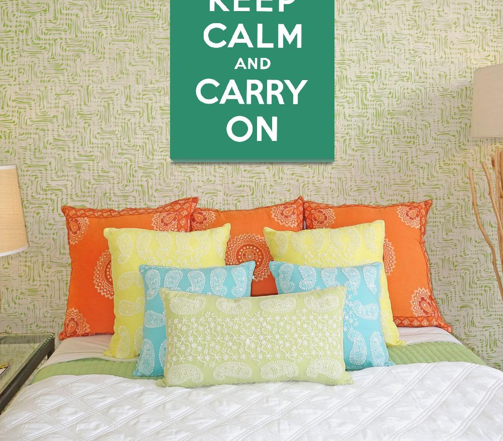 """Green Keep Calm And Carry On 10&quot  by oldies"