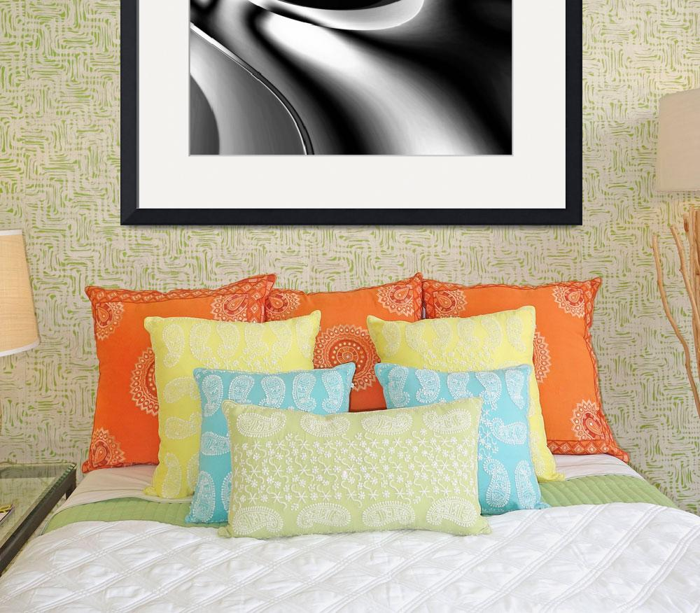 """""""Metal Silver Melt Abstract Art""""  (2011) by shanmaree"""